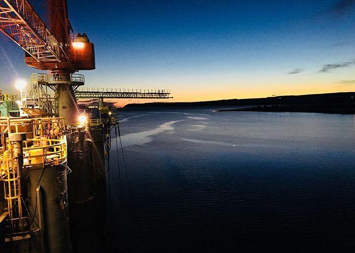 field machining on an oil platform