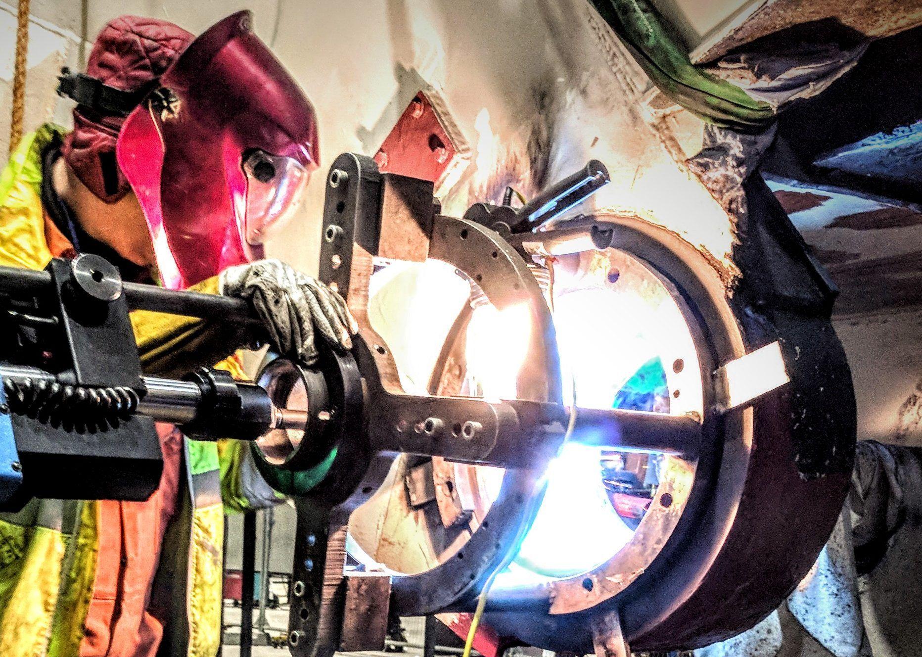 sub contract welding bore of pipe