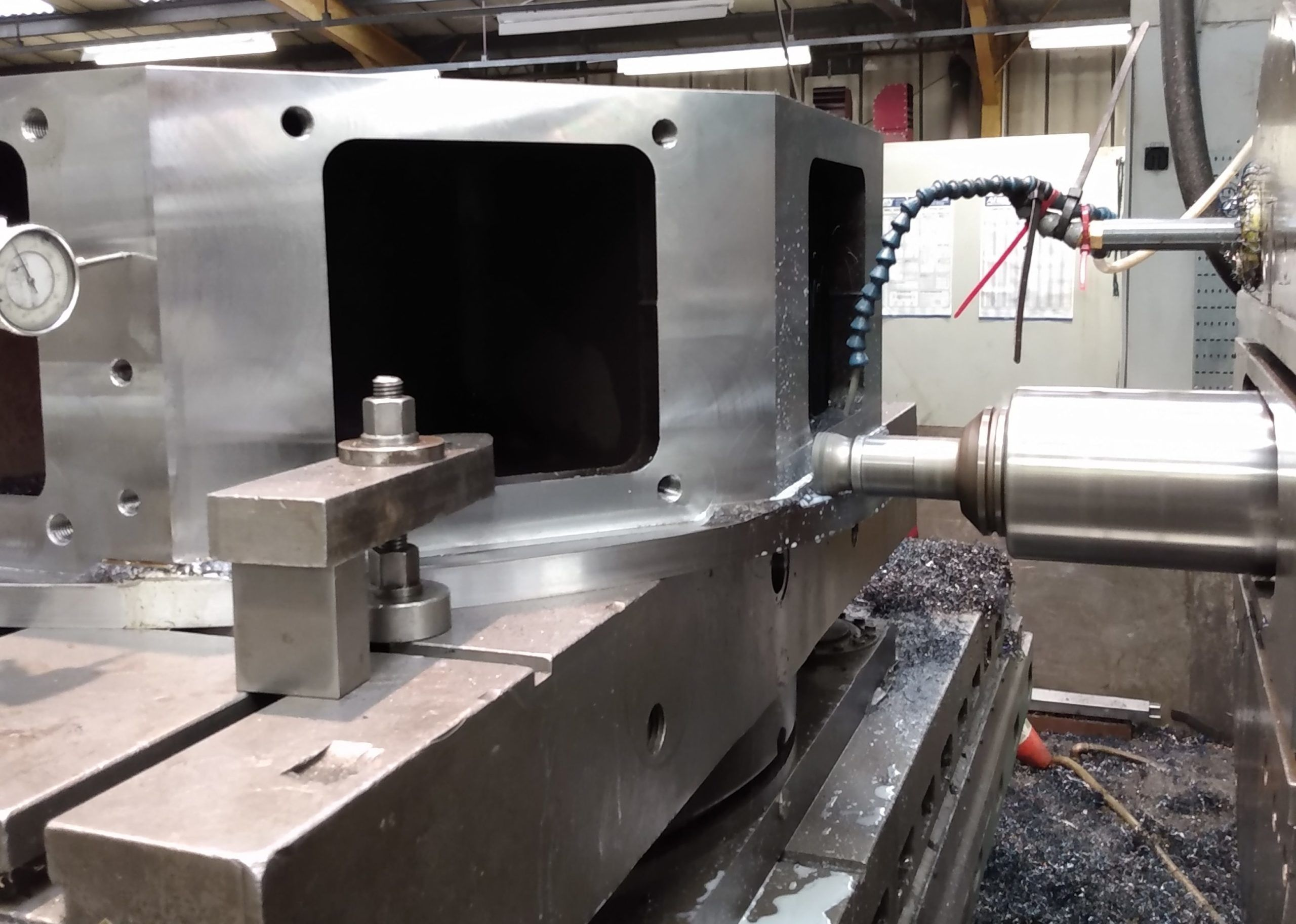 sub contract machining on a large horizontal boring machine