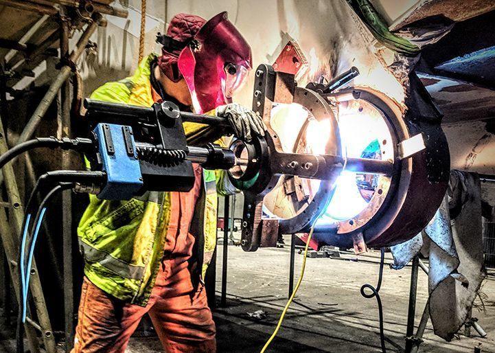 onsite welding of bore